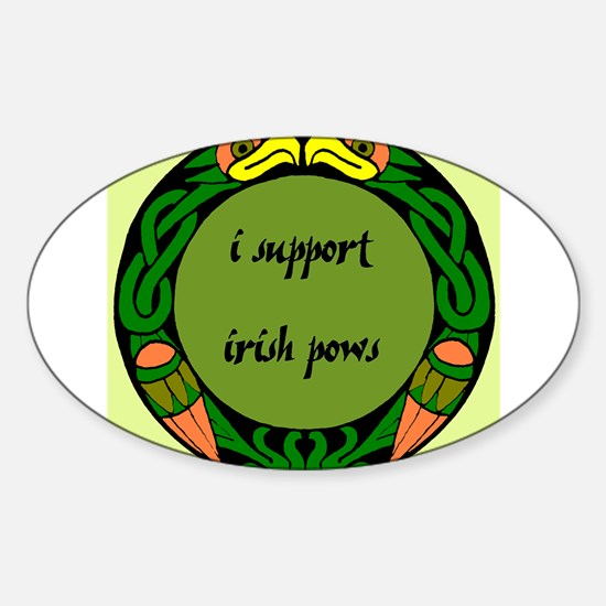 SUPPORT IRISH POWs Oval Decal