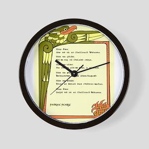Mise Éire Wall Clock