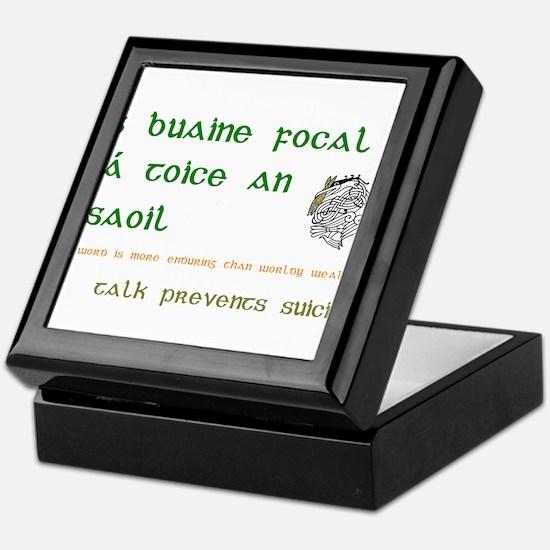Talk prevents suicide Keepsake Box