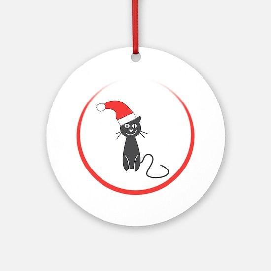 Feral Cat Claus Ornament (Round)