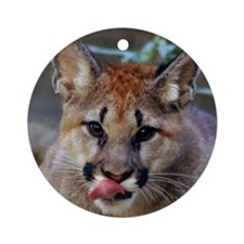 Cougar Cub Ornament (Round)