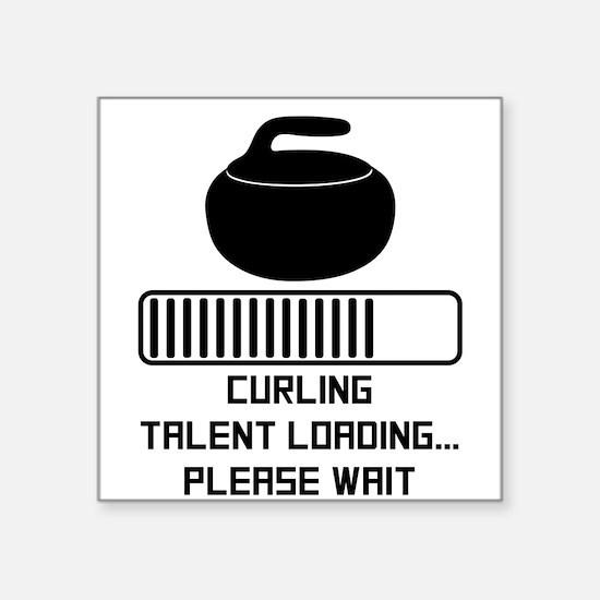 Curling Talent Loading Sticker