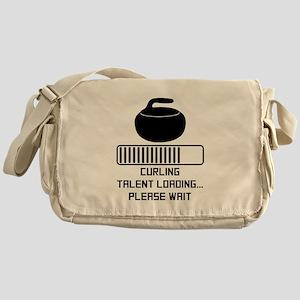 Curling Talent Loading Messenger Bag