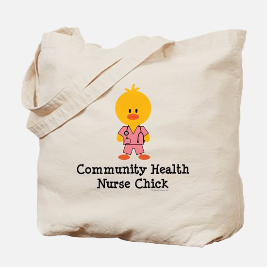 Community Health Nurse Chick Tote Bag
