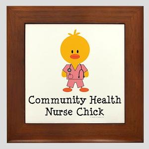 Community Health Nurse Chick Framed Tile