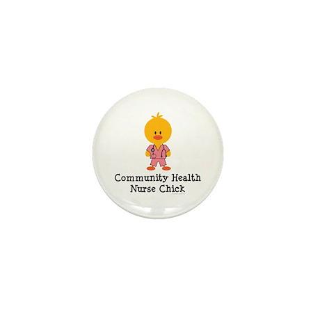 Community Health Nurse Chick Mini Button (10 pack)