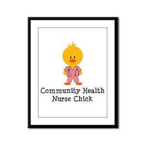Community Health Nurse Chick Framed Panel Print