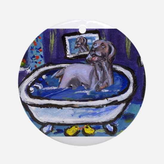 WEIMARANER bath Ornament (Round)
