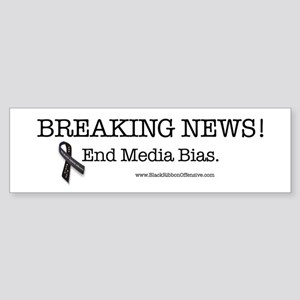 Stop the Presses! End Media Bias. Bumper Sticker