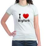 I Love Bigfork Jr. Ringer T-Shirt
