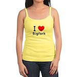 I Love Bigfork Jr. Spaghetti Tank