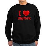 I Love Bigfork Sweatshirt (dark)