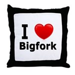 I Love Bigfork Throw Pillow