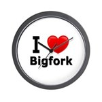 I Love Bigfork Wall Clock