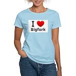 I Love Bigfork Women's Light T-Shirt