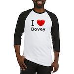 I Love Bovey Baseball Jersey
