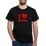 I Love Bovey Dark T-Shirt