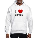 I Love Bovey Hooded Sweatshirt
