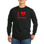 I Love Bovey Long Sleeve Dark T-Shirt
