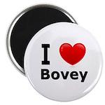 I Love Bovey Magnet