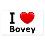 I Love Bovey Rectangle Sticker 50 pk)