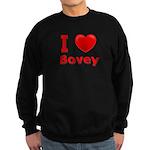 I Love Bovey Sweatshirt (dark)