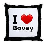 I Love Bovey Throw Pillow