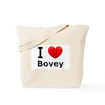 I Love Bovey Tote Bag