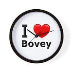 I Love Bovey Wall Clock