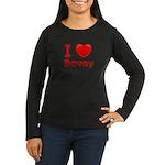I Love Bovey Women's Long Sleeve Dark T-Shirt