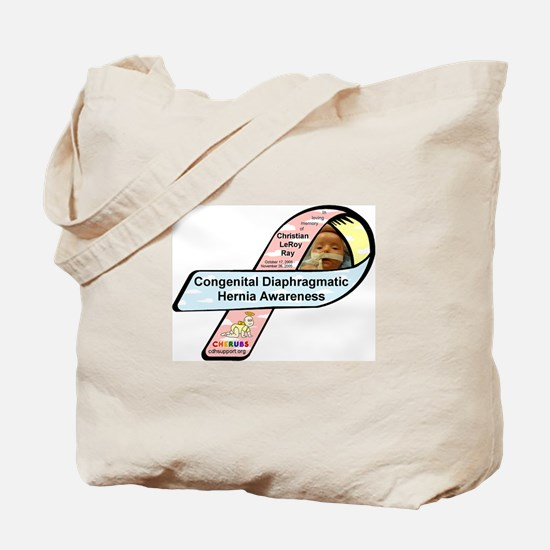 Christian LeRoy Ray CDH Awareness Ribbon Tote Bag