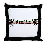 Medieval Italian Stripes Throw Pillow