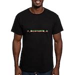 Medieval Italian Stripes Men's Fitted T-Shirt (dar