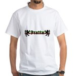 Medieval Italian Stripes White T-Shirt
