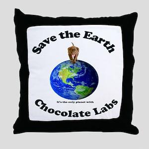Chocolate Lab Throw Pillow