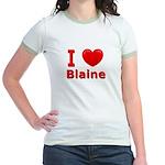 I Love Blaine Jr. Ringer T-Shirt