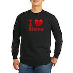 I Love Blaine Long Sleeve Dark T-Shirt