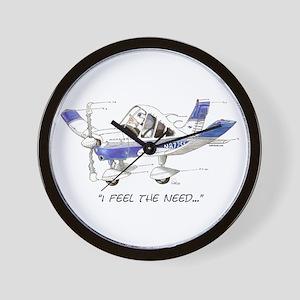I Feel the Need Wall Clock