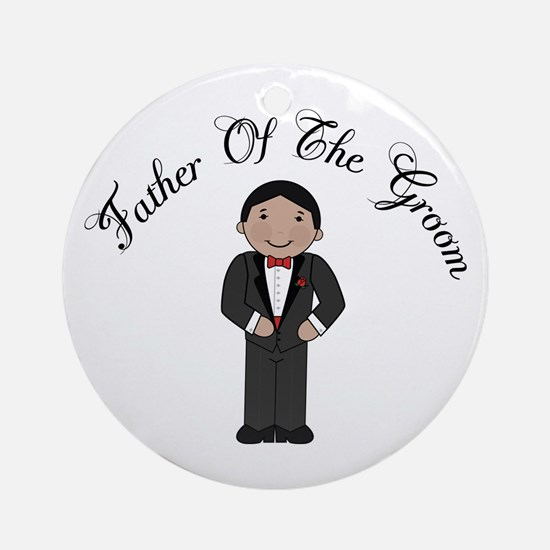 Fun Father Of The Groom Ornament (Round)