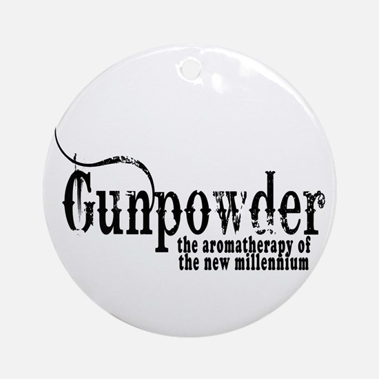 Gunpowder Gun Humor Ornament (Round)