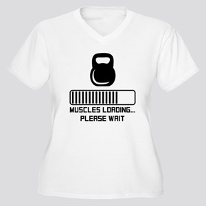 Muscles Loading Plus Size T-Shirt