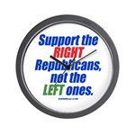 Support the Right Wall Clock