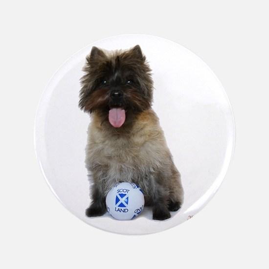 """Cairn Terrier Football Scotland 3.5"""" Button"""