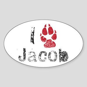 I Paw Jacob Oval Sticker