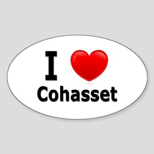 I Love Cohasset Oval Sticker