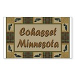 Cohasset Minnesota Loon Rectangle Sticker