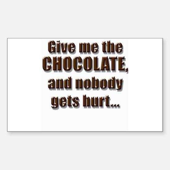 Chocolatey Threat - Rectangle Decal