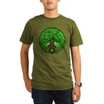Circle Celtic Tree of Life Organic Men's T-Shirt (