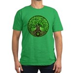 Circle Celtic Tree of Life Men's Fitted T-Shirt (d
