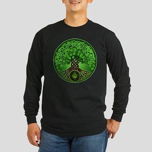 Circle Celtic Tree of Life Long Sleeve Dark T-Shir